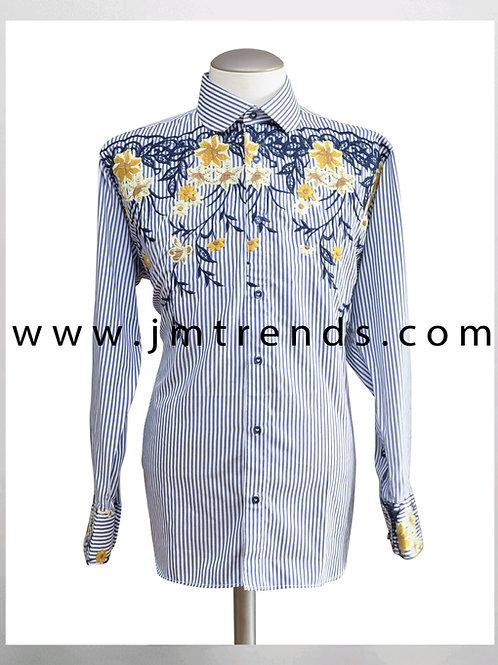 Elegance Stripe with Weave Flower Pattern