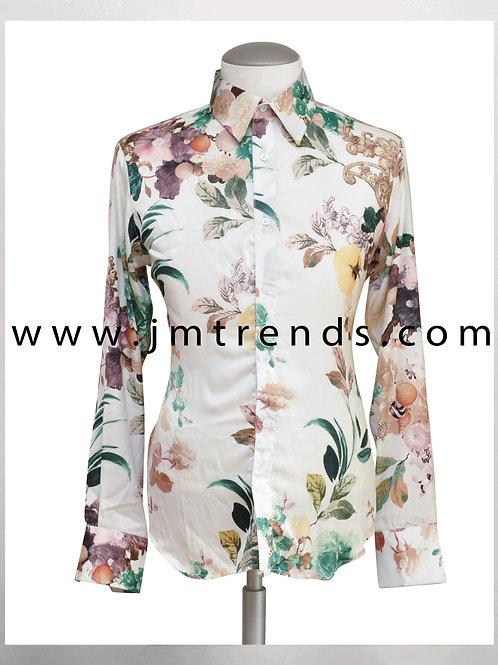 Classy Silk Floral Print Shirt