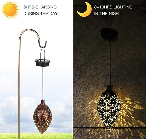Solar Powered Hanging LED Outdoor Lamp