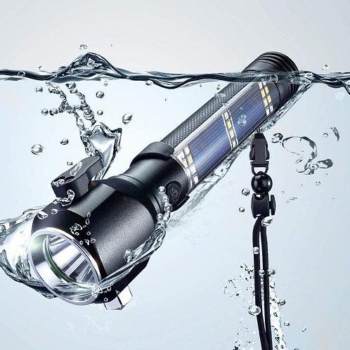 Multi-Function Solar Escape Rescue Flashlight