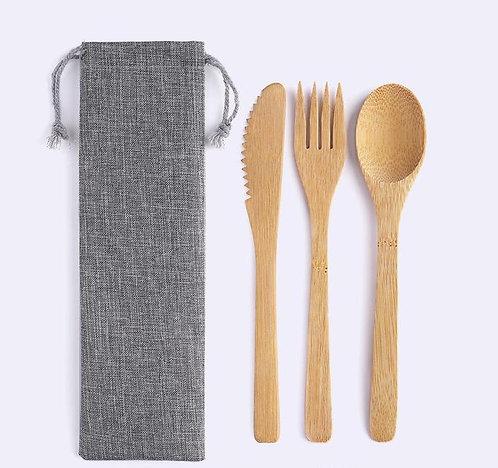 Biodegradable Wooden Cutlery Set