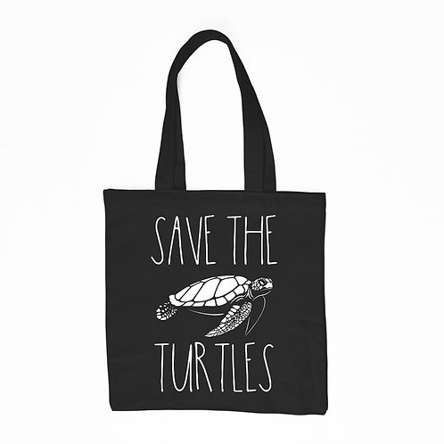 Save the Turtles Tote Bag with Zipper