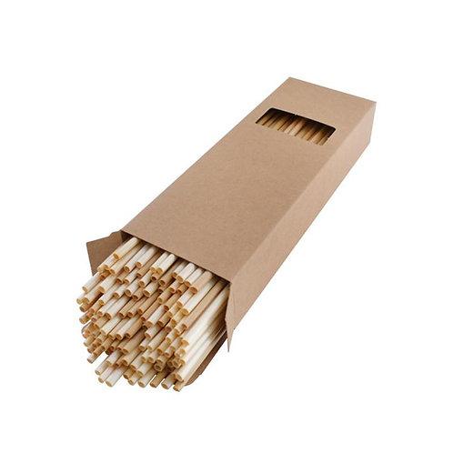 100pcs Disposable Wheat Drinking Straws