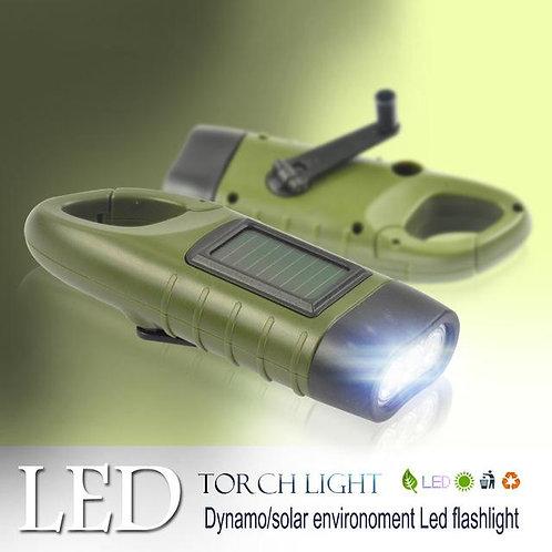 Solar Powered Torch LED Flashlight