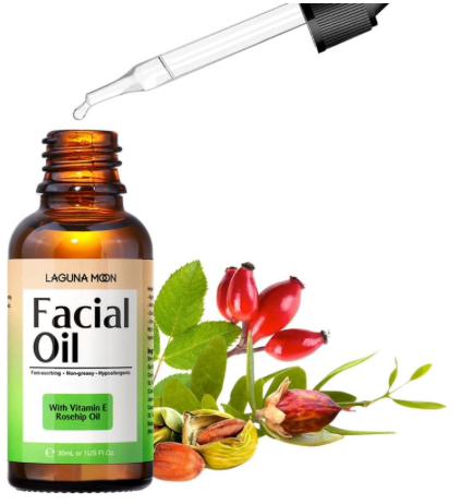 LAGUNAMOON Natural Organic Facial Oil Anti-Aging Face Moisturizer