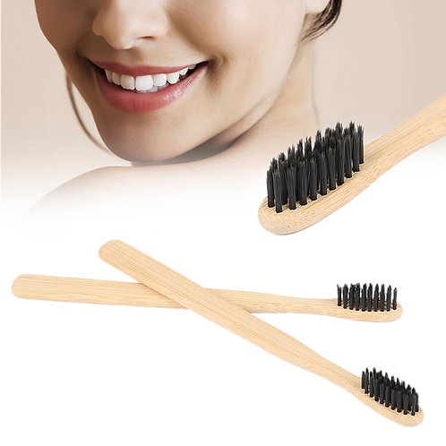 1pc Natural Bamboo Soft Charcoal Bristles Toothbrush