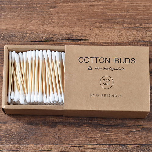 ECO-Friendly Bamboo 100% Pure Cotton Buds 200 pcs