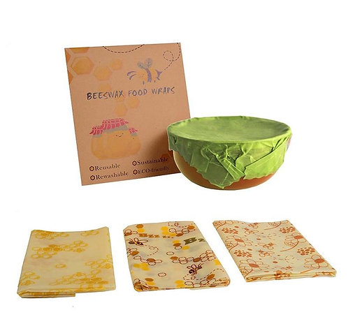 3pcs Beeswax Reusable Food Wraps