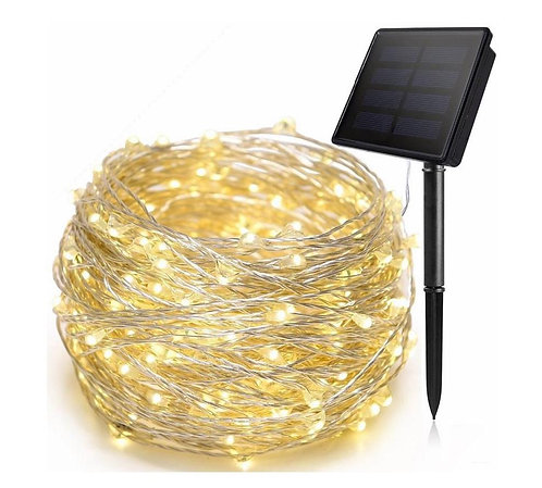20Meter Solar Powered Copper Wire String LED Lights