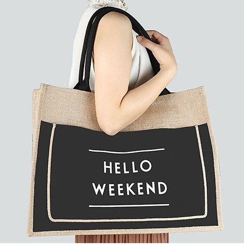 Hello Weekend Large Capacity Shoulder Bag