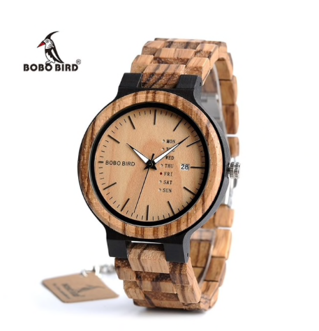 BOBO BIRD Wooden Quartz Wristwatch