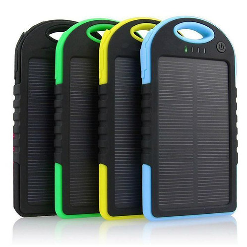 Portable 5000mAh Solar Power Bank