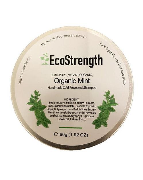 Organic Mint Shampoo Bar + Travel Tin