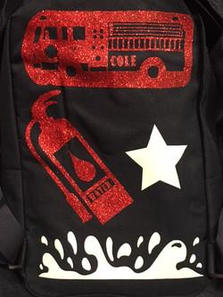Firetruck Bookbag (Back)
