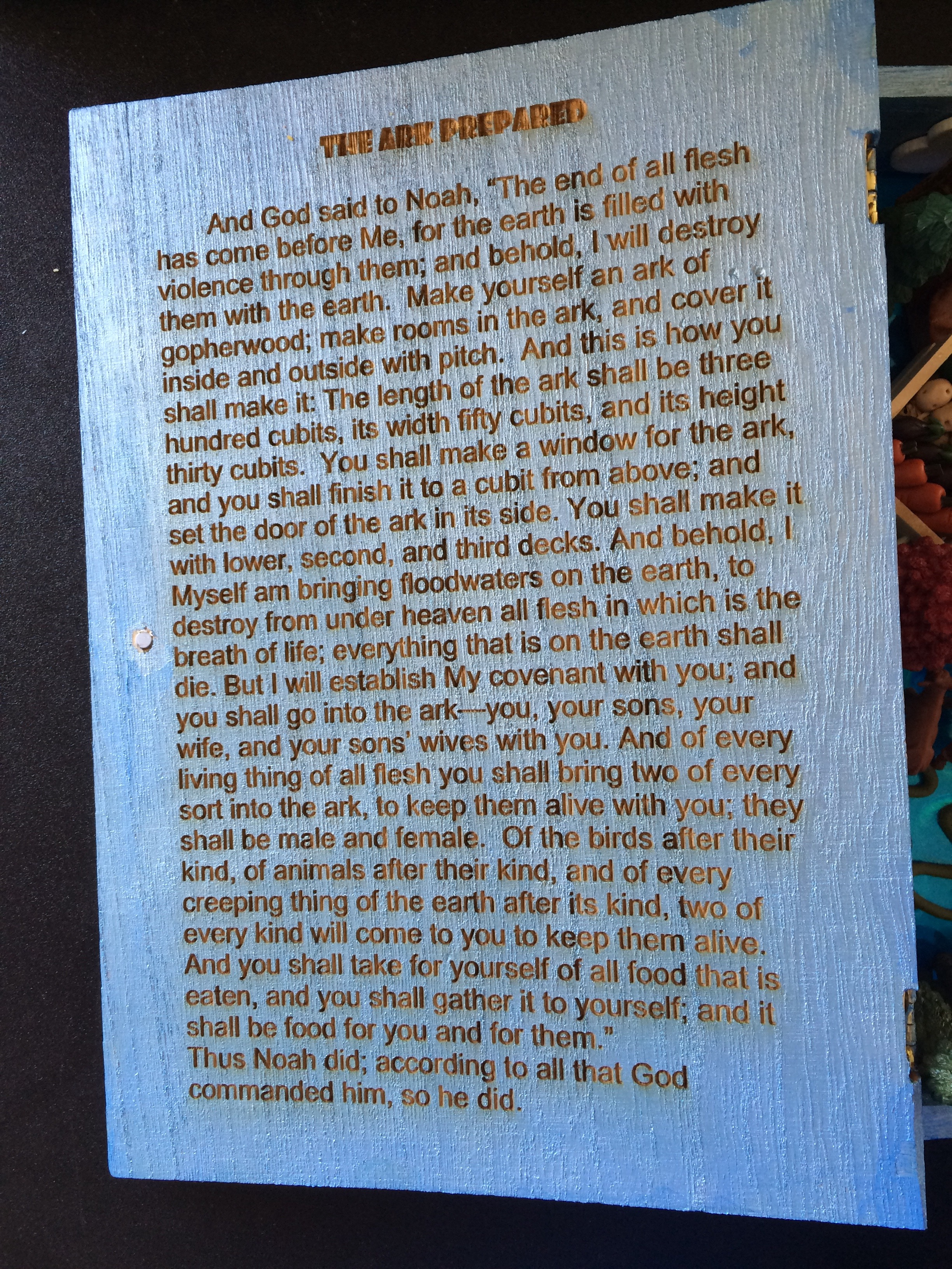 Noah's Ark Inside Cover