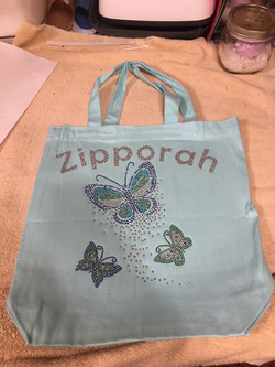 Butterfly Blue Canvas Tote Bags