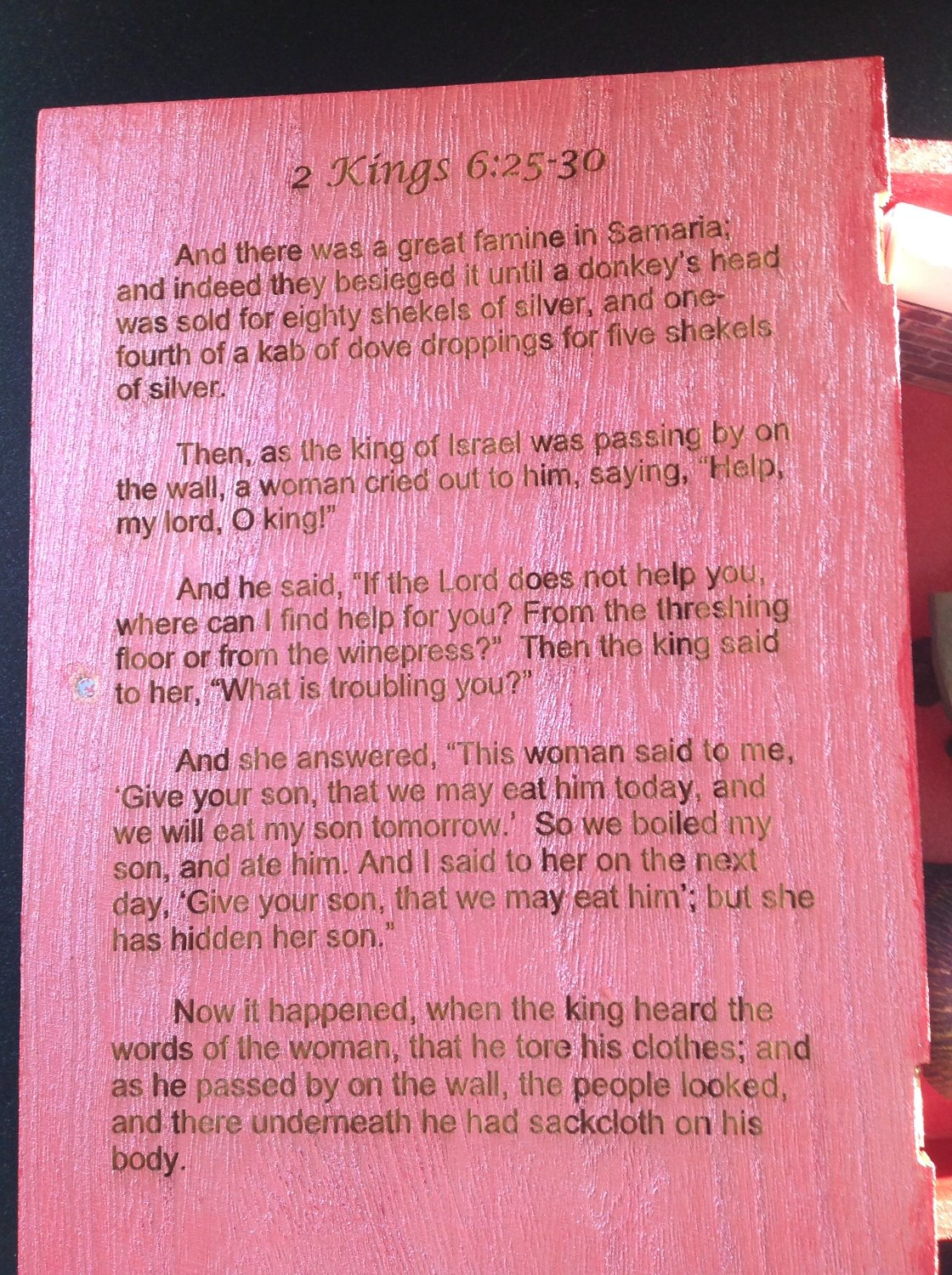 2 Kings 6 Inside Cover
