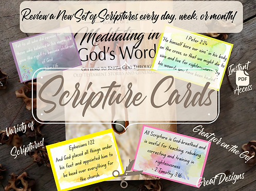Scripture Cards (Black & Grey, Watercolor Collection)