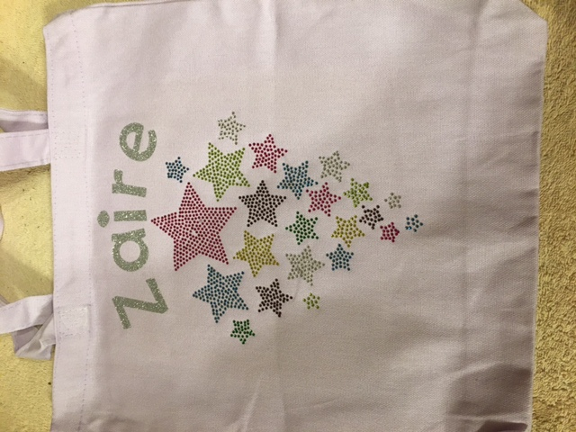 Star Light Purple Canvas Tote Bag