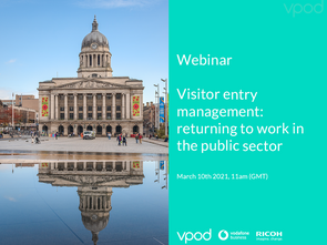 Visitor entry management: returning to work in the public sector