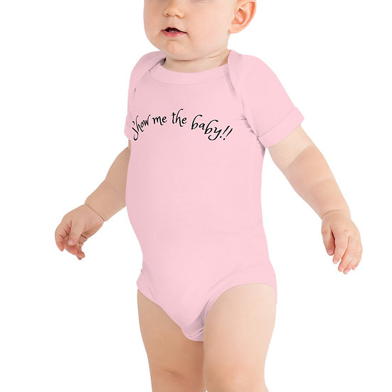 """Baby romper """"Show me the baby!!"""""""