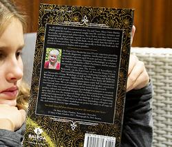 Sofia reading closeup