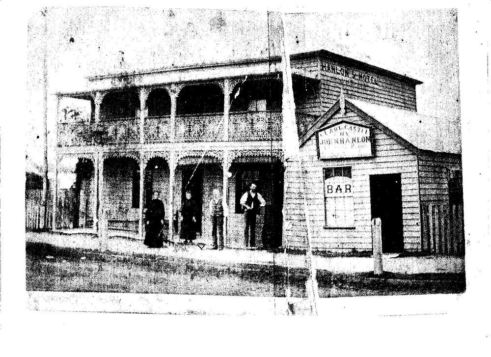 Hanlon's Hotel in Raymond Terrace, 1880s