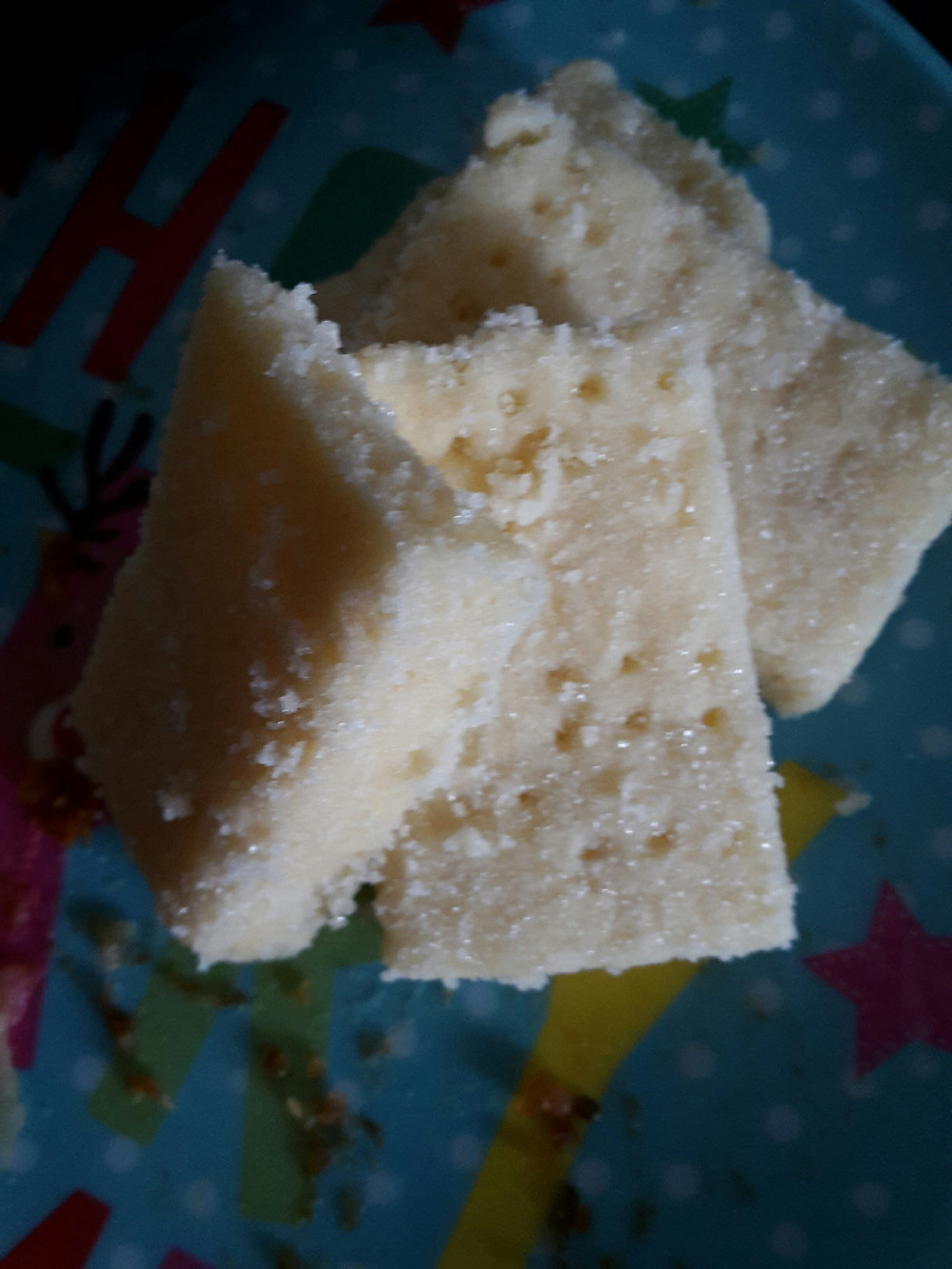 Four pieces of yummy homemade shortbread