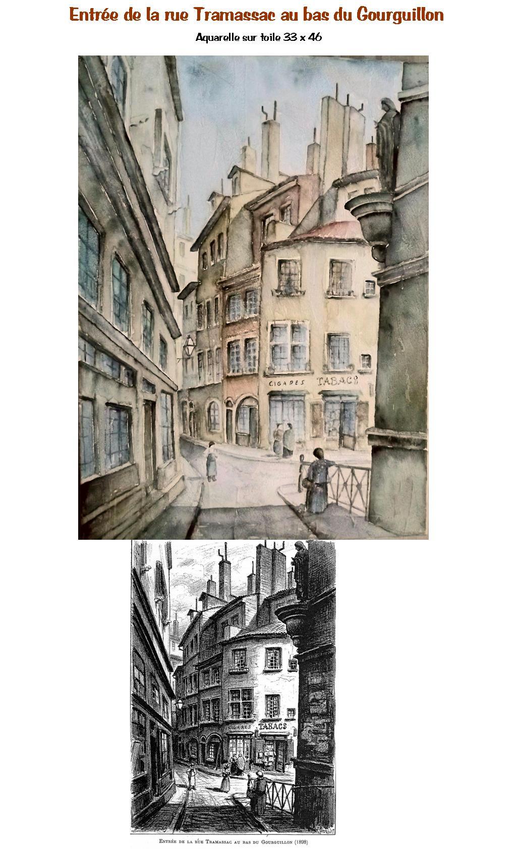 Rue Tramassac au bas du Gourguillon