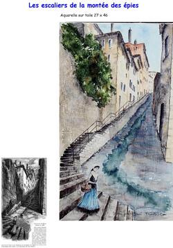 escaliers de la montée des épis