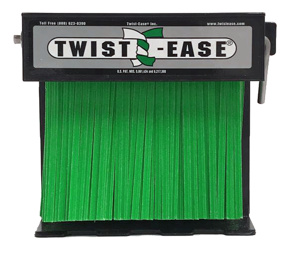 4in Twist Tie Dispenser Green (Color Cor