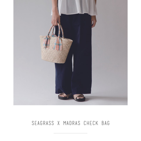 Cheer seagrass x madras check bag.jpg