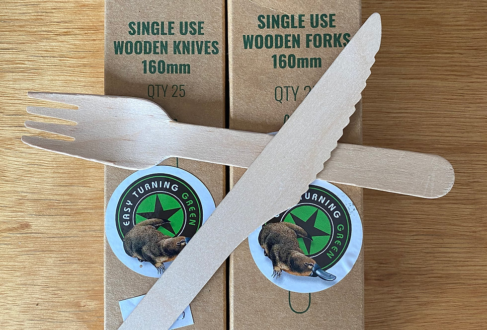 Wooden Knife & Fork