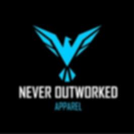 Never Outworked Apparel Logo Black & Blu