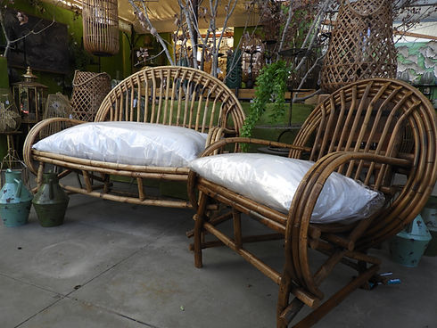 mobilier antiquité rotin bambou