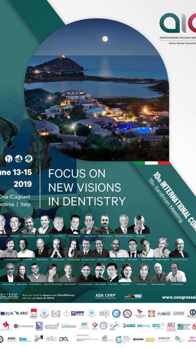 Focus on new visions in dentistry. Aio congress, Chia  June 13-15 - 2019