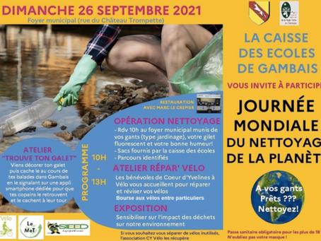 Journée mondiale du nettoyage de la planète : 26 septembre