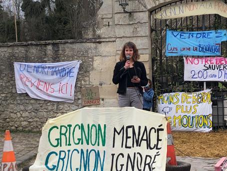 Grignon : appel à manifestation pour la sauvegarde du site