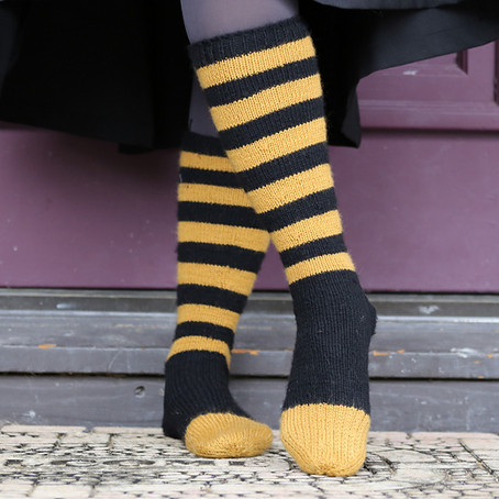 Project 63: Bumble bee socks