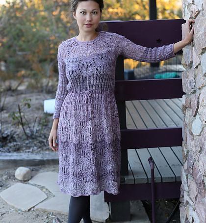 Project 62:  Frost Flowers Purple dress