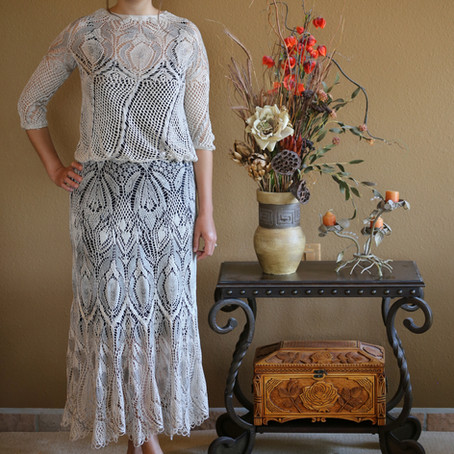 Project 69:  Romantic maxi dress (colored in grey)