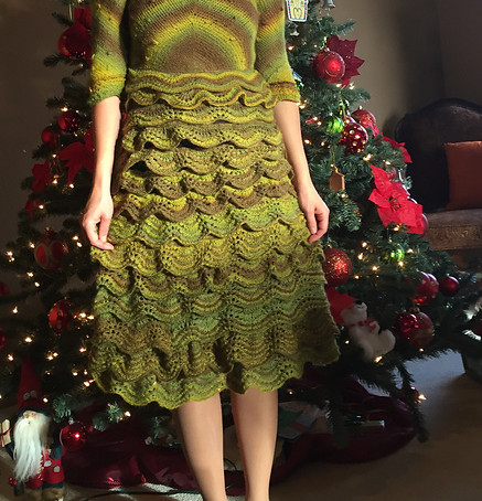 Project 46: Mossy Forest dress (Old Shale)