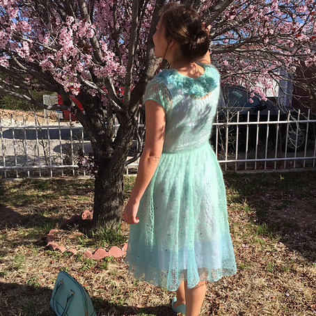 Project 53: Print O' the Wave Dress in Mint