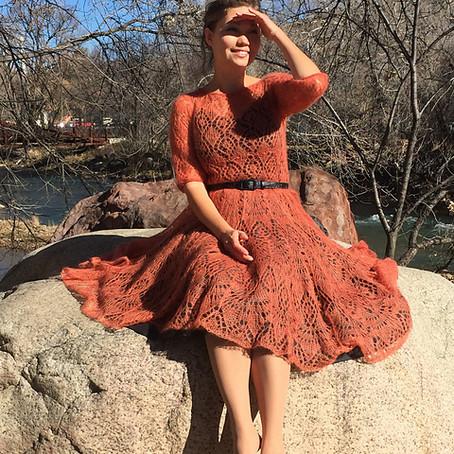 Project 45: Fiery Freya Mohair dress