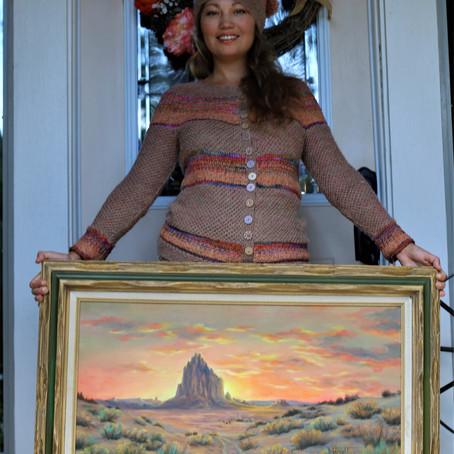 New Mexico sunset cardi