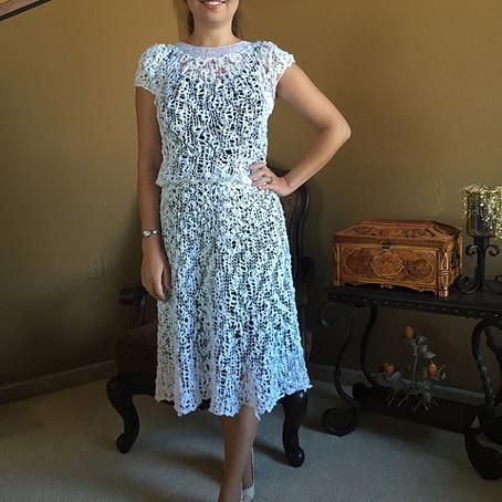 Project 48: Iris Cotton ball dress
