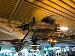 Rocket chandelier at Denver International Airport