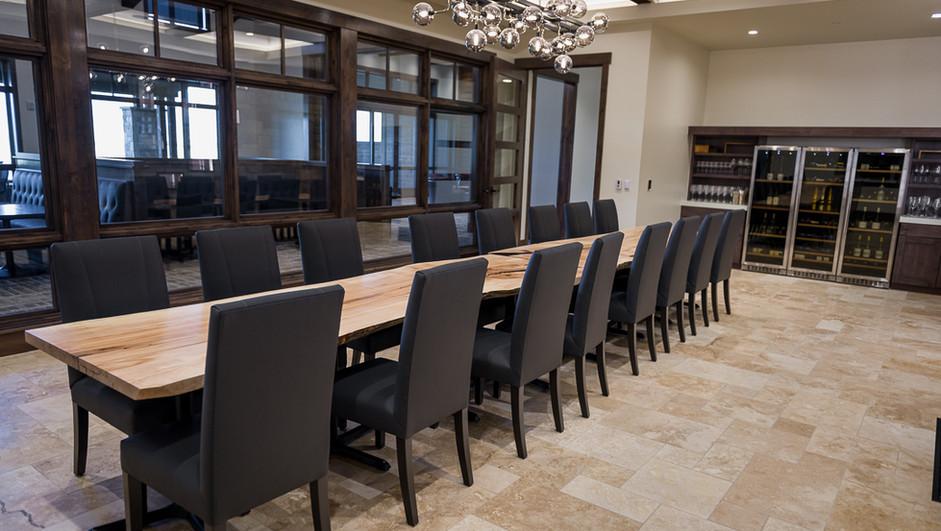 16 person live edge table