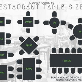 Guide to Restaurant Table Sizes