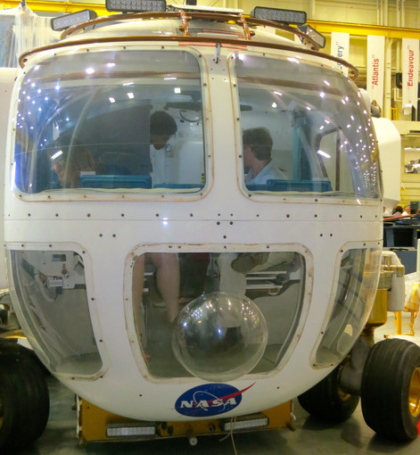Checking out the Lunar Rover